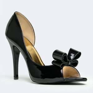 Designer Inspired Couture Bow Heels